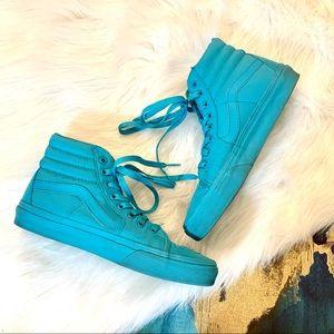 Vans Blue Monochrome High Top Sneakers